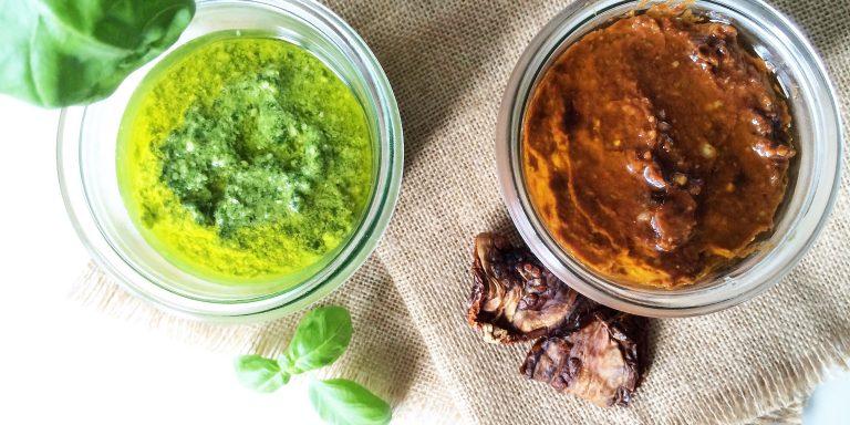 Pesto Verde & Pesto Rosso selbstgemacht
