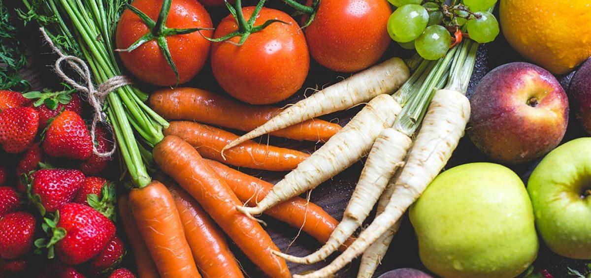 Gesunde Ernährung aus frischen Lebensmittel