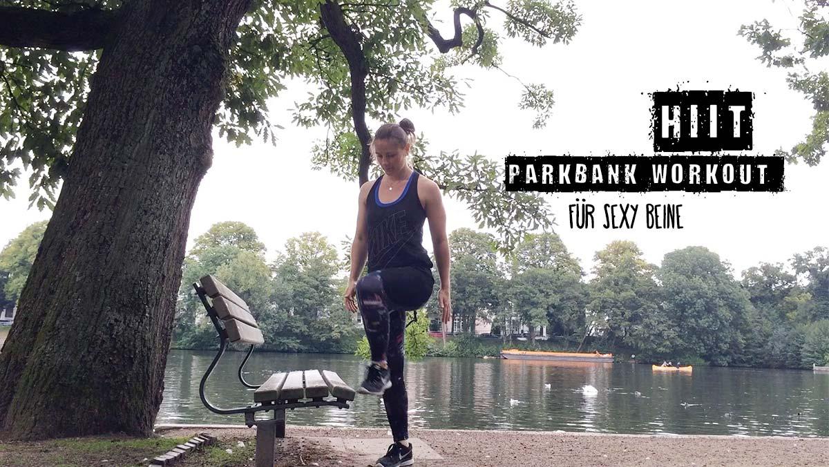HIIT Parkbank Workout Beine