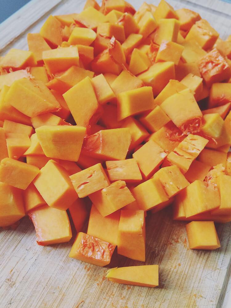 Zubereitung Butternus Kürbis