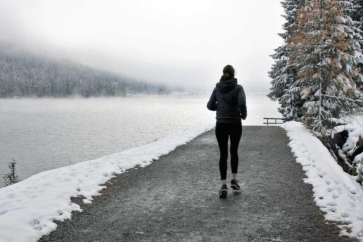 Outdoorsport im Winter